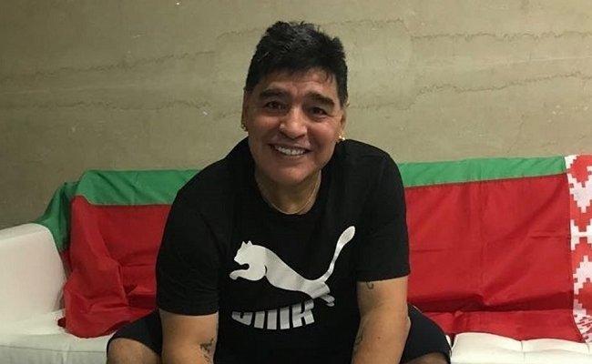 Марадона не против остаться жить в Беларуси